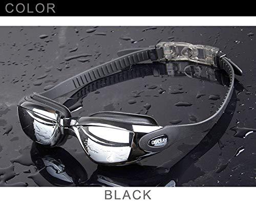FLAUU Anti-Fog Zwembril, PC+ Polycarbonaat Lens, Food Grade Silicone Tape met oordopjes, 40Mm*60Mm Lens, Geschikt voor mannen en vrouwen