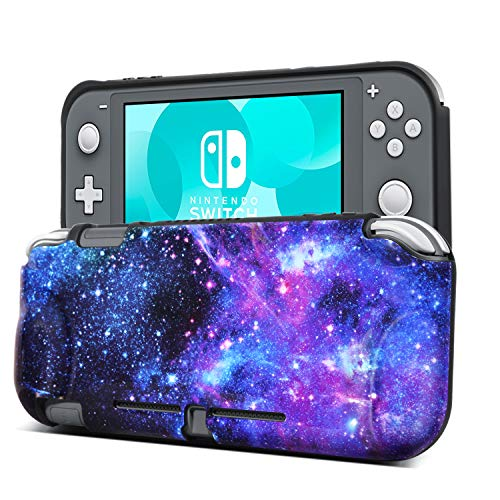 BENTOBEN Compatible with Switch Lite Protective Case, Flexible TPU Shock-Absorption Anti-Scratch Space Design Durable Protective Case Cover Shell Compatible with Nintendo Switch Lite 2019, Galaxy
