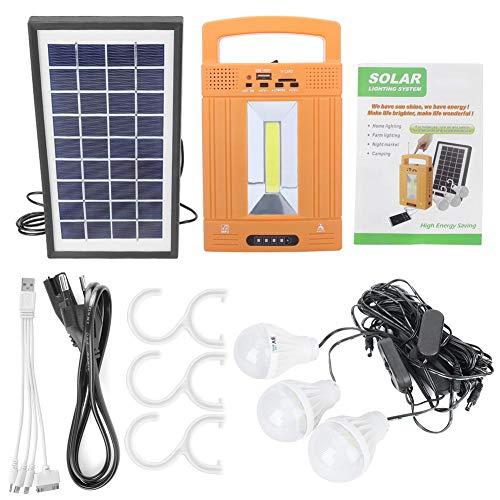 Solarpanel-Stromerzeuger, LM-3608 Multifunktions-Solarpanel-Stromerzeuger Home Power System Kit EU-Stecker 110-240V