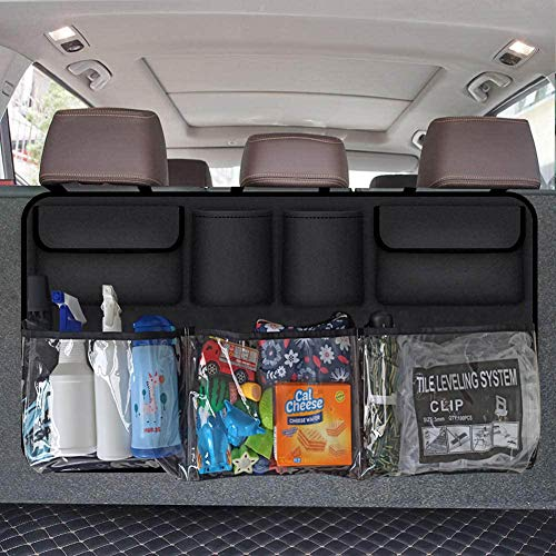 Wellkool Car Trunk Organizer, Backseat Hanging Organizer with 7 Large Storage Bag -Trunk Organizer for SUV,Truck,Van -Your Space Saving Expert