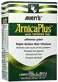 Allen's Arnica Plus Triofer - Triple Action Hair Vitalizer - 100ml + 50 Tabs