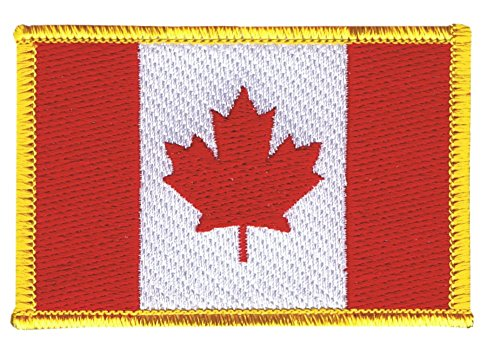 Flaggenfritze Flaggen Aufnäher Kanada Fahne Patch + gratis Aufkleber