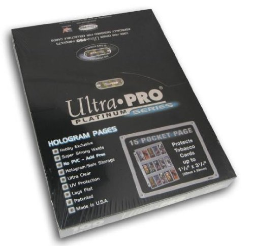Ultra Pro 15 Pocket Platinum Page für Tabakkarten 100 ct.