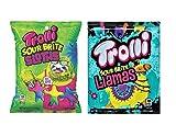 Trolli Peg Bag Sour Gummy Variety 2-Pack, 4.25 Oz Each (Sour Brite Sloths & Sour Brite Llamas)