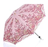 Best Uv Parasols - LCY Lace Snow/Rain/Sun UV Parasol 2 Folding Embroidery Review