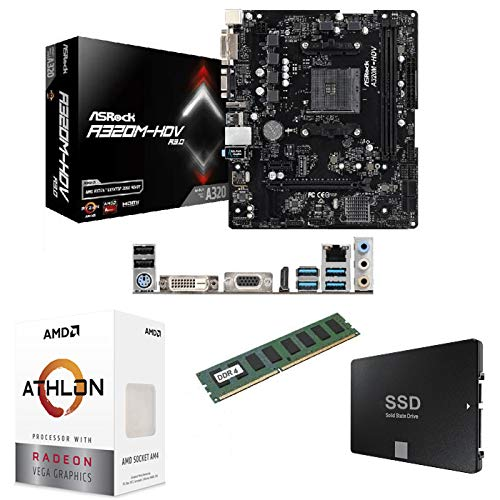 Marquel PC upgrade kit - PC Upgrade - AMD Socket AM4 + AMD AM4 + processor + 4 Gigas DDR4 + SSD 120 Gigas
