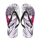 Hunter × Hunter: Killua Zoldyck Flip Flaks Flip Flops Zapatillas de Goma Natural Cómodo Toke Toe Post Sandals Zapatillas de Playa para Exteriores y al Aire Libre, Regalos para Fans de Anime