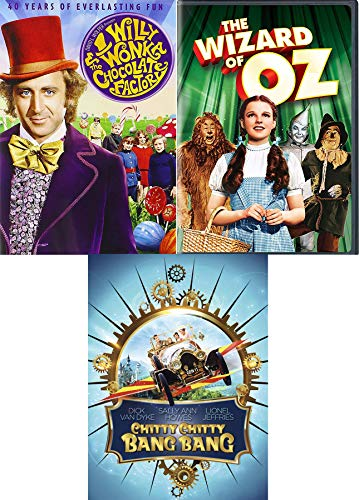 A Magical Car Wizard & Candy Triple Family Musical Adventure Willy Wonka Chocolate Factory + Chitty Chitty Bang Bang &...