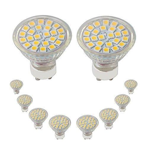 BEIYI E6203 Artrs LED-Leuchtmittel, 4,5 W, GU10, 310 lm, Warmweiß, 120 Grad Abstrahlwinkel, 24 SMD5050, 50 W Ersatz