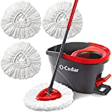 O-Cedar Easywring Microfiber Spin Mop & Bucket Floor Cleaning System with 3 Extra Refills