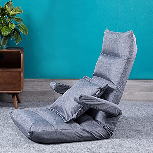 Verstellbarer Bodenstuhl Lazy Sofa Stuhl Bodenspiel Sofa Stuhl Kissen Liege mit Armlehne und Rückenlehne