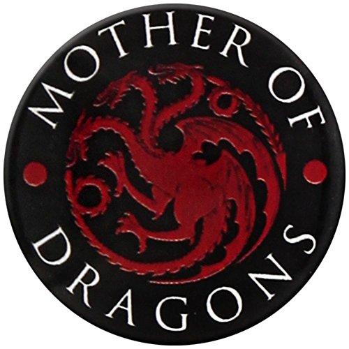 Game of Thrones drukknop Madre van zwarte draak rood badge pin officieel