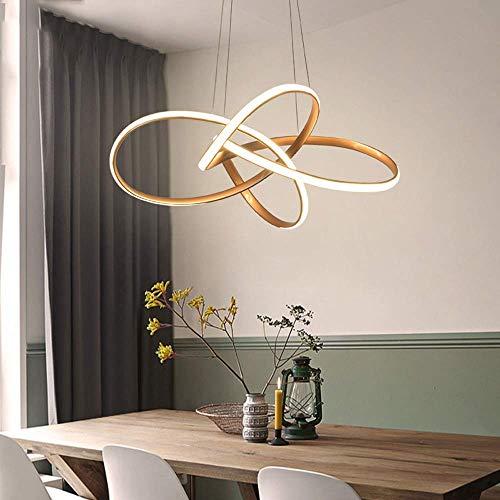 Moderne led-hanglamp design cirkel hanglamp bruin woonkamer hanglamp eettafel keuken decoratie dimbaar met afstandsbediening in hoogte verstelbaar S