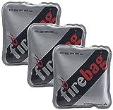 firebag Knickkissen: 3er-Set Taschenwärmer warme Hände, wiederverwendbar (Knickkissen Wärme)