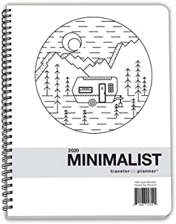 Dated Minimalist DayPlanner - 12 Monthly Calendar Overview, to-do Lists, Weekly and Daily Planning (8.5 by 11 inches), 2020 Traveler Minimalist)