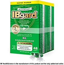 IBgard® for Irritable Bowel Syndrome (IBS) Symptoms Including, Abdominal Pain, Bloating, Diarrhea, Constipation, 48 Capsules (2 Pack)