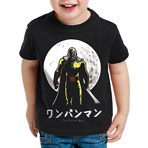 style3 One Punch Saitama T-Shirt pour Enfants Anime Manga, Taille:140