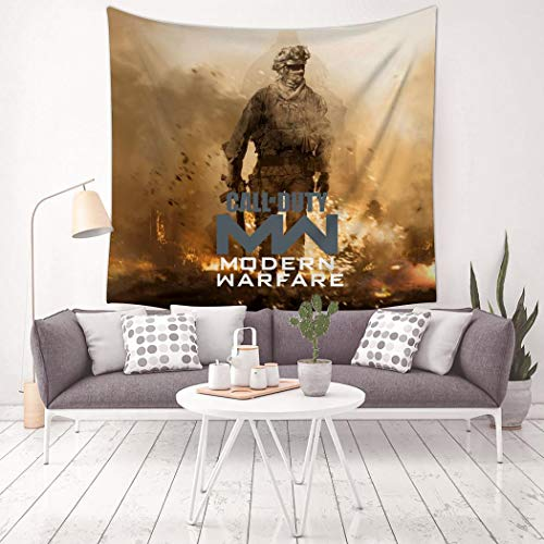 URV168JJC 3D Print Call-of-Duty Modern-Warfare Tapestry Wall Hanging for Living Room Bedroom Dorm Decor 59.1 X 59.1 Inch