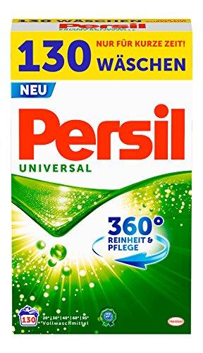 Persil Universal Pulver, Vollwaschmittel, 360° Reinheit & Pflege, 1er Pack (1 x 130 Waschladungen)