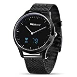 BERNY Hybrid Smart Watch for Men and Women, Smartwatch Phone Fitness Tracker with Bluetooth Camera - Compatible with iPhone and Android