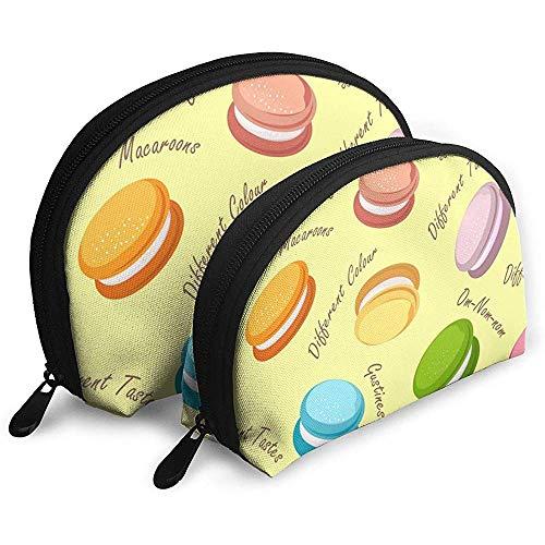 Couleur Macarons Sacs Cosmétiques Étanche Tissu Maquillage Pochette d'embrayage Cosmétique Et Articles De Toilette Organisateur Sac Pochette Portable