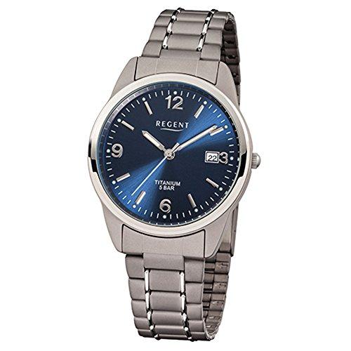 Regent, F433, orologio in titanio, 36 mm
