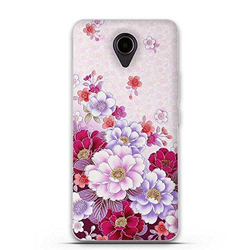 FUBAODA für Huawei Ascend Y635 Hülle, 3D Erleichterung Klassische Blume Muster TPU Hülle Schutzhülle Silikon Hülle für Huawei Ascend Y635