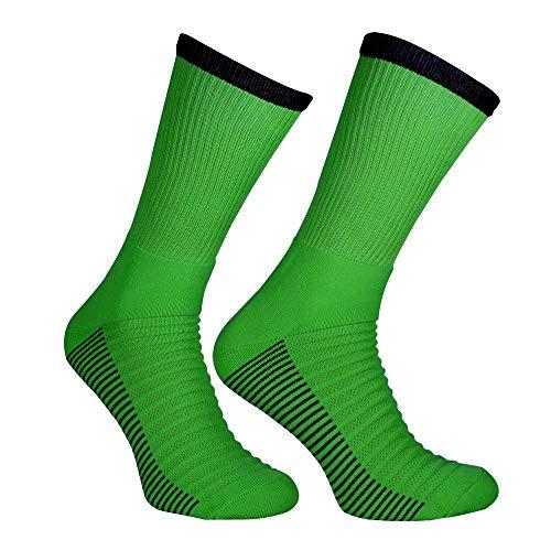 Iskierka Fußballstutzen Socks Socken Stutzenstrumpf Produzent Mix 42-45 (neon grün-schwarz, 42-45)
