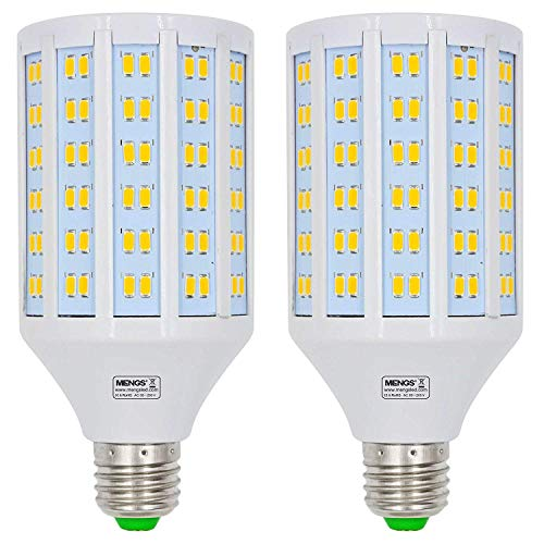 2Pcs MENGS® E27 Lampe à LED 25W AC 85-265V, Blanc Chaud 3000K, 180x5730