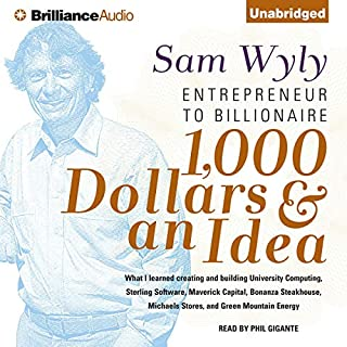 1,000 Dollars & an Idea audiobook cover art