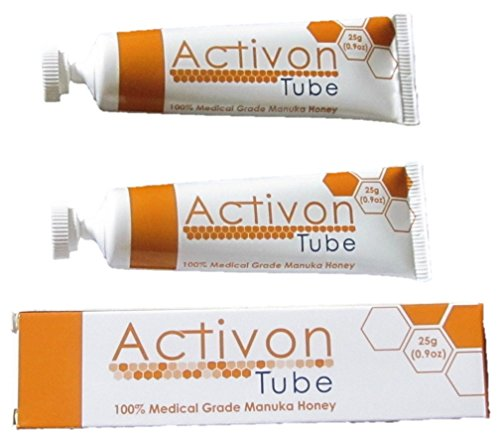 (Twin Pack) Activon Tube Manuka Honey 25g - Pack of 2 Tubes - 100% Medical Grade Manuka Honey