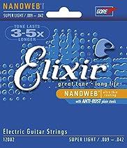 Elixir 12002 Electric Guitar Saiten 6 Super Light Nanoweb Coating