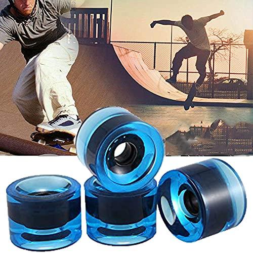 Kamenda 4Pcs Cruiserboard Skateboard Rollen 70x51mm, Räder für Longboard Snakeboard Pennyboard Fishboard Ersatzradsatz(Blau)