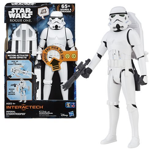 SW Star Wars Rogue One Hero Series Electronic Deluxe Stormtrooper 12-Inch Action Figure image