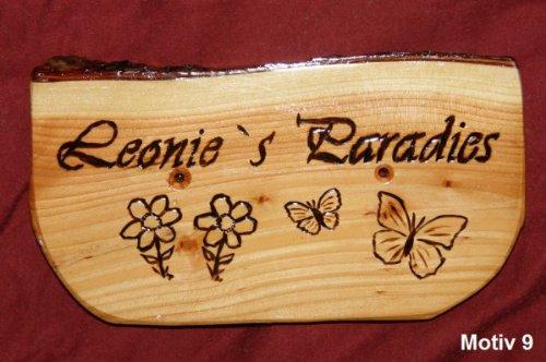 netproshop naambordje, familiebord, deurbordje ca. 30 x 22 cm houten bord motief 9