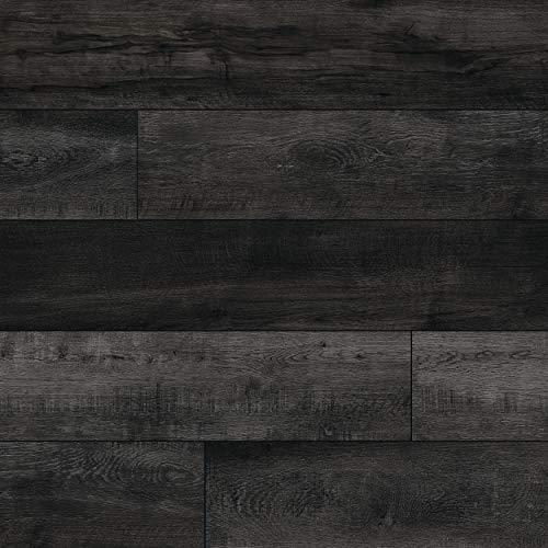 M S International AMZ-LVT-0131 Luxury Vinyl Planks LVT Tile Click Floating Floor Waterproof Rigid Core Wood Grain Finish Rutledge, CASE, Harkers Grove Gray, 23 Square Feet