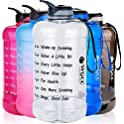 WGCC Large 1 Gallon Motivational Water Bottle