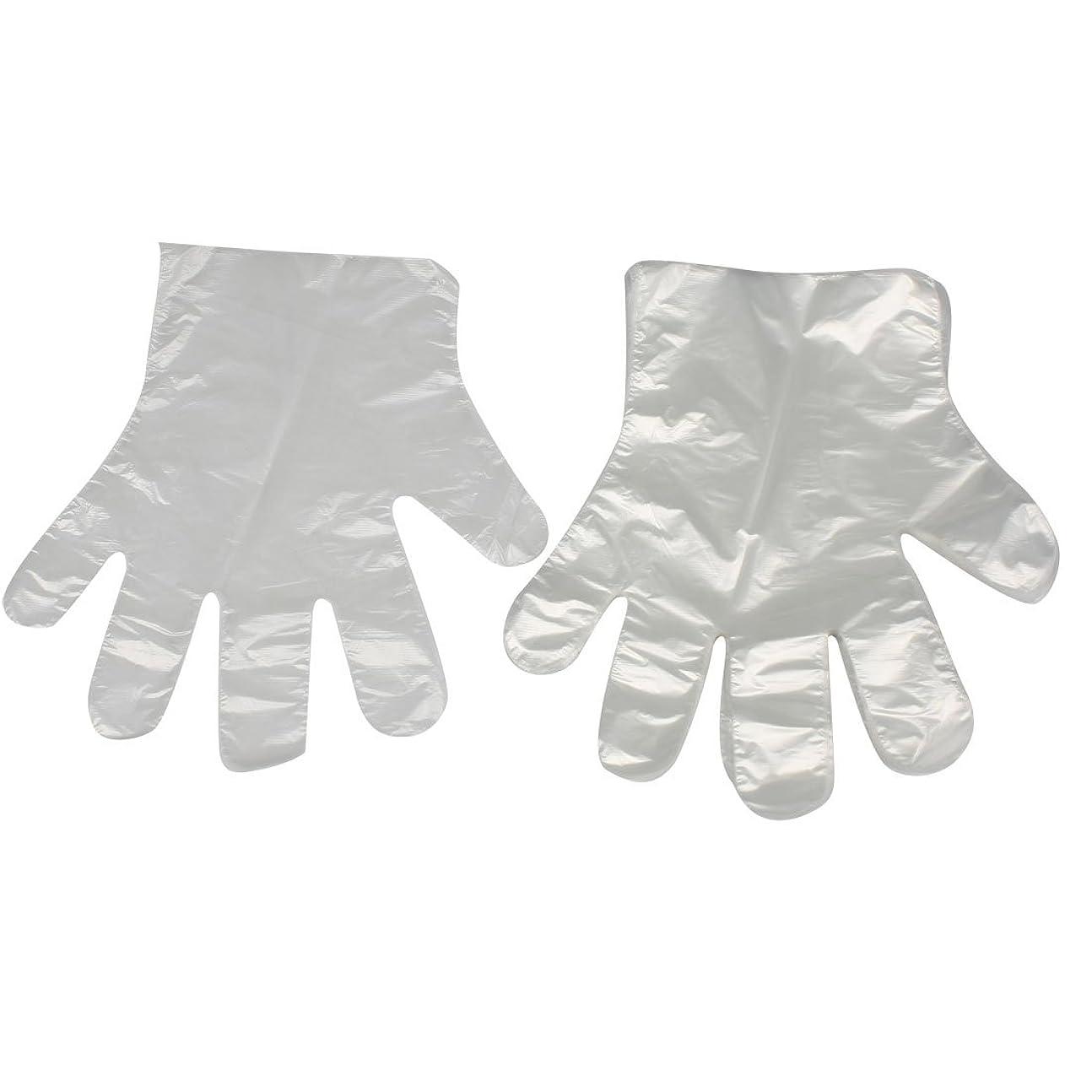 アーサーコナンドイルファントムサイズuxcell ホーム用キッチン用品 薄い柔軟な 使い捨て手袋 クリア ホワイト100 枚
