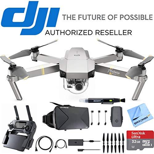 Mavic Pro Platinum Quadcopter Drone w/ 4K Camera + Virtual Reality Experience Bundle