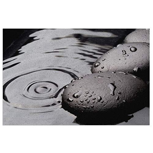 Black Rock - Felpudo de PVC antideslizante y fácil de lavar, 23,6 x 39,9 cm, antideslizante, lavable, para cocina, balcón, interior,...