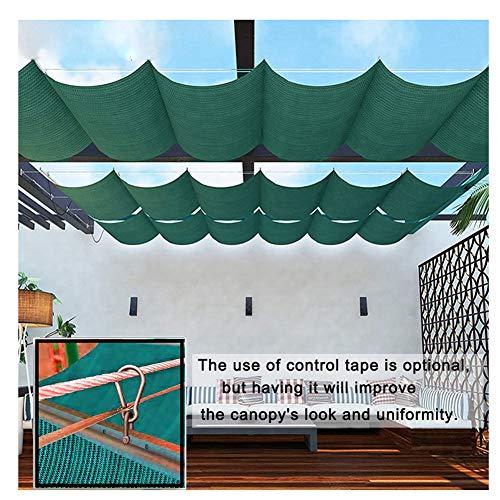 LJIANW Vela de Sombra Toldo Vela, Retráctil Velas Wave Shade Cubierta De Pérgola Gazebo Cover Ancho 0.5-1.3m 95% Bloqueador Solar Tela para Jardín Patio Interior Decoración, 55 Tamaños