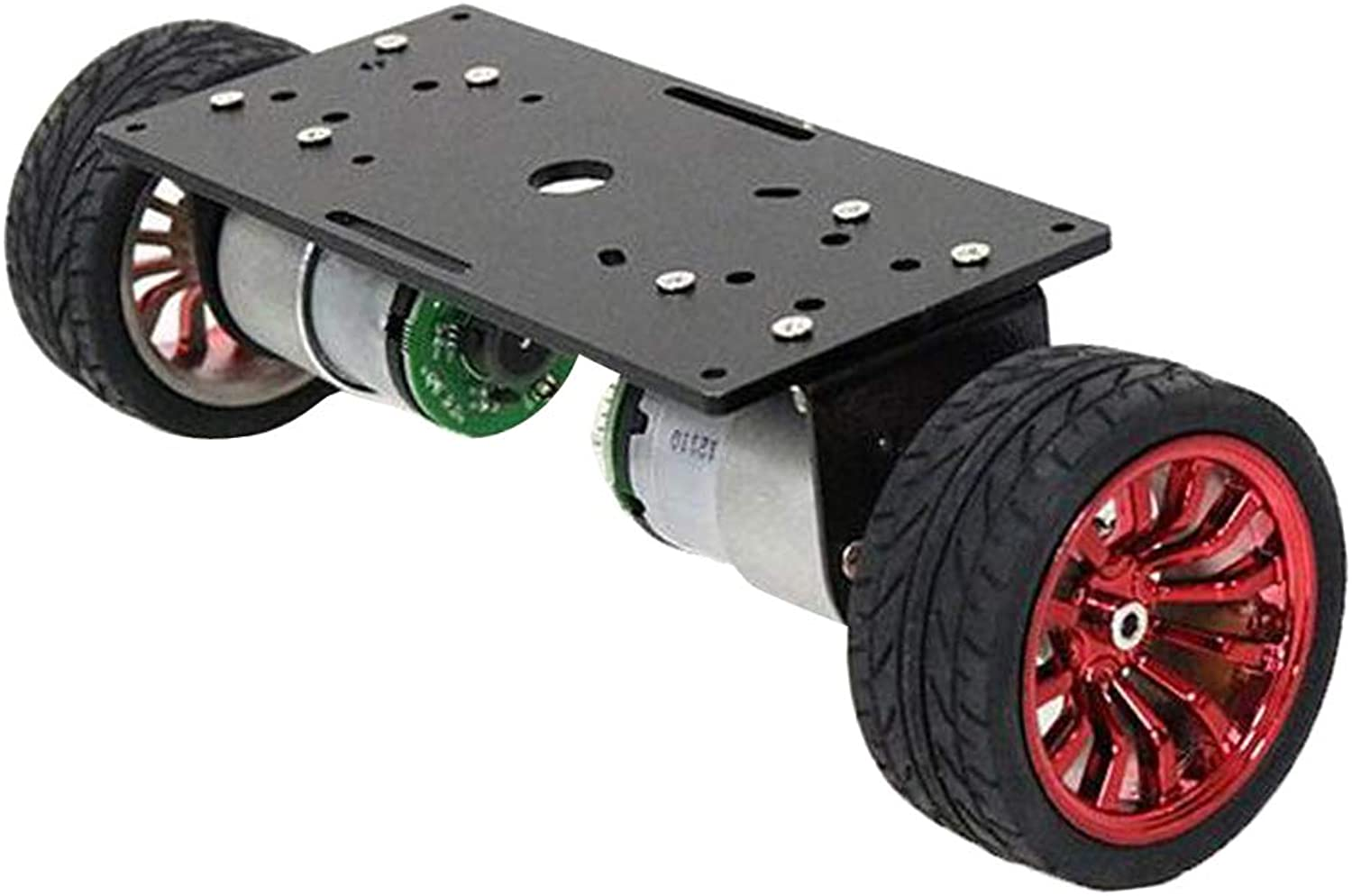 D DOLITY Motor Robot Car Chassis Kit (Two Wheels)  with Speed Encoder  for Robotics Learning, Great Gift