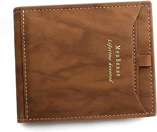 BeniNew men's wallet short large capacity multi-card zero wallet-C4401 light brown