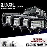 KaTur 5Inch 72W LED Light Bar Spot Beam 10800LLM Offroad Fog Lights LED Driving Work Lamp for Truck Pickup...