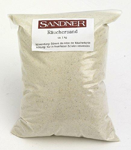 Weihrauch feiner Räuchersand zum Dämmen der Hitze der Räucherkohle und zum Schutz der Räucherschalen, 1 kg