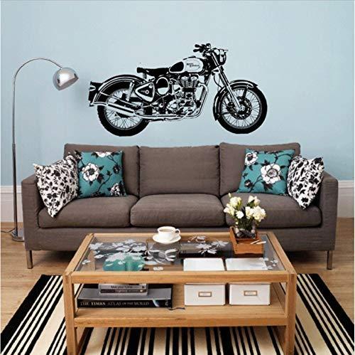 Wandtattoo Royal Enfield Motorrad Wandkunst Aufkleber Classic English Motorrad Aufkleber Für Raumdekoration 40X80Cm