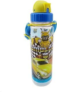 Transformers Pop Straw Water Bottle, 550ml, Multi