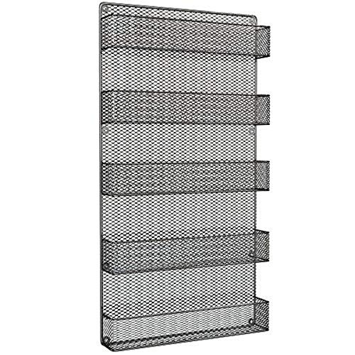 Spice Rack Organizer - Space Saving Wall Mount 5-Tier Wire Rack Shelves for Pantry or Cabinets – Kitchen Organization and Storage by Home-Complete