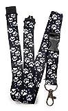 SpiriuS - Correa de seguridad para el cuello con clip de metal, 2 x 43 cm, diseño original, color Animal Foots