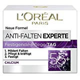 L'Oréal Paris Feuchtigkeitspflege für das Gesicht, Feuchtigkeitspendende Anti-Aging Tagescreme mit Calcium zur Minderung von Falten, Anti-Falten Experte 55+, 1 x 50 ml